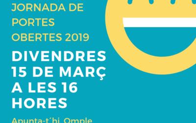 NOVA JORNADA DE PORTES OBERTES 2019